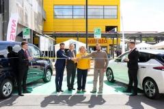 Da sinistra, Enrico Stefano, Roma Capitale; Paolo Matteucci, Nissan Italia; Lotta Good, IKEA Anagnina; Marco Pierfranceschi, Municipio VII