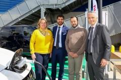 Da sinistra, Lotta Good, IKEA Anagnina; Enrico Stefano, Roma Capitale; Marco Pierfranceschi, Municipio VII; Paolo Matteucci, Nissan Italia