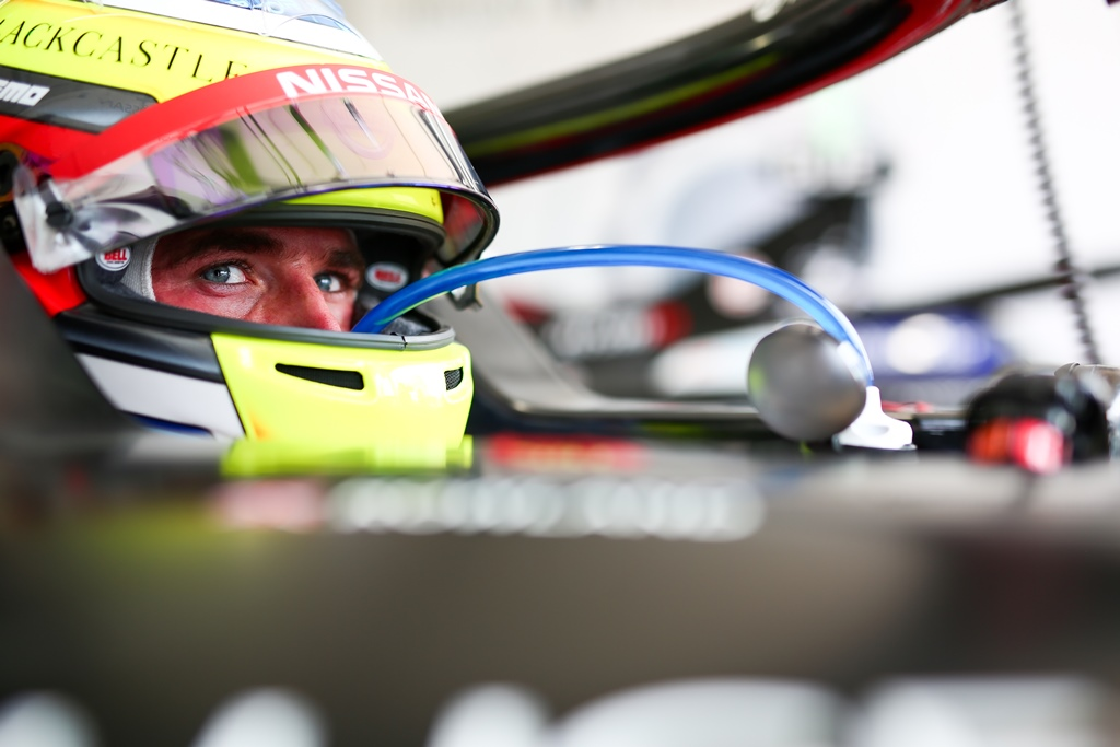 Nissan Formula E Driver Oliver Rowland in car 22 in Chile