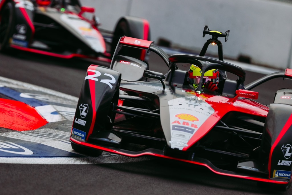 Nissan Formula E Driver Oliver Rowland in car 22 in Mexico