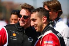 Nissan Formula E Drivers Oliver Rowland and Sebastien Buemi in Marrakesh