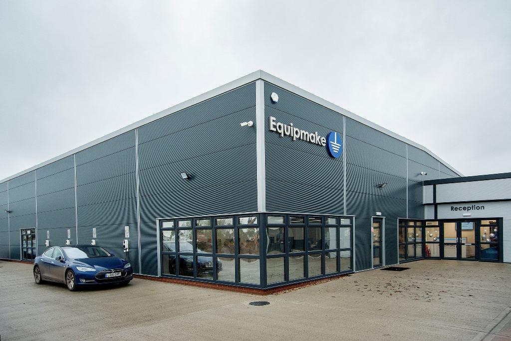 Equipmake Electric bus factory, Snetterton business Park, Norfolk.