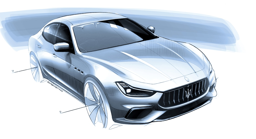 1_Maserati_Ghibli_Hybrid_handsketch