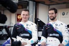 Valencia (ESP), 17th October 2019. ABB FIA Formula E Championship Season 6, Testing, BMW i Andretti Motorsport, Maximilian Günter (GER) BMW iFE.20 #28 and Alöexander Sims (GBR) ) BMW iFE.20 #27.