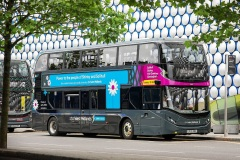 National Express Group, which operates in the UK some 1,600 buses and 1,800 coaches, announced a vision to switch to zero-emission vehicles. They pledge to not buy another diesel bus in the UK. The ambition is to have fully zero emission bus fleet by 2030 and coach fleet by 2035, making National Express the first zero emission transport group in the UK. Pictured are The first of 29 new BYD ADL Enviro400EVs for National Express West Midlands. Picture by Shaun Fellows / Shine Pix Ltd