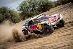 Stephane Peterhansel (FRA) of Team Peugeot Total races during stage 11 of Rally Dakar 2017 from San Juan to Rio Cuarto, Argentina on January 13, 2017 // Marcelo Maragni/Red Bull Content Pool // P-20170113-00573 // Usage for editorial use only // Please go to www.redbullcontentpool.com for further information. //