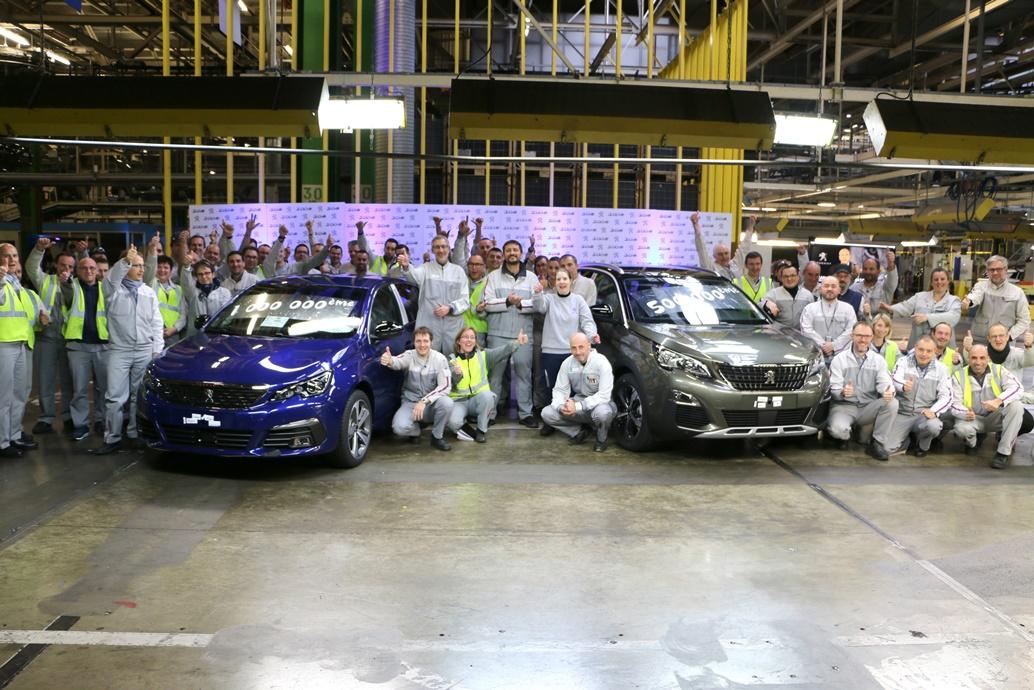 1 milione Peugeot 308 e mezzo milione Peugeot 3008 prodotte (1)