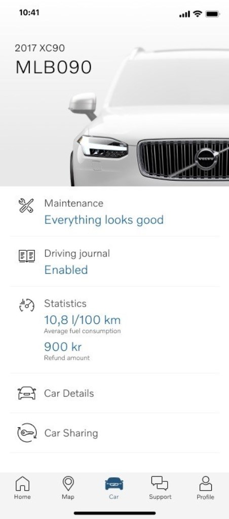 Volvo Car Tab Refund Amount