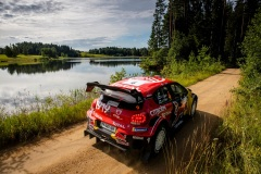 Esapekka Lappi (FIN) Janne Ferm (FIN) of team Citroen Total is seen racing during the Shell Helix Rally Estonia in Oteppa, Estonia on July 13, 2019 // Jaanus Ree/Red Bull Content Pool // AP-1ZXJ2AWN91W11 // Usage for editorial use only // Please go to www.redbullcontentpool.com for further information. //