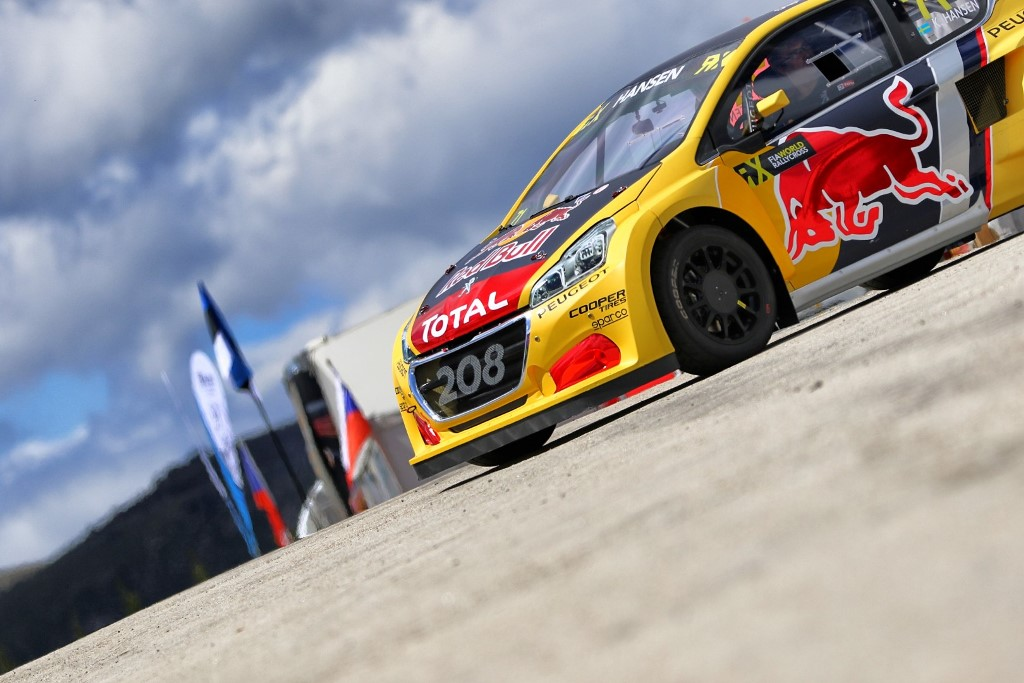 Kevin Hansen performs at FIA World Rallycross Championship in Montalegre, Portugal on 28 April 2018 // @World / Red Bull Content Pool // AP-1VGK3EB652111 // Usage for editorial use only // Please go to www.redbullcontentpool.com for further information. //