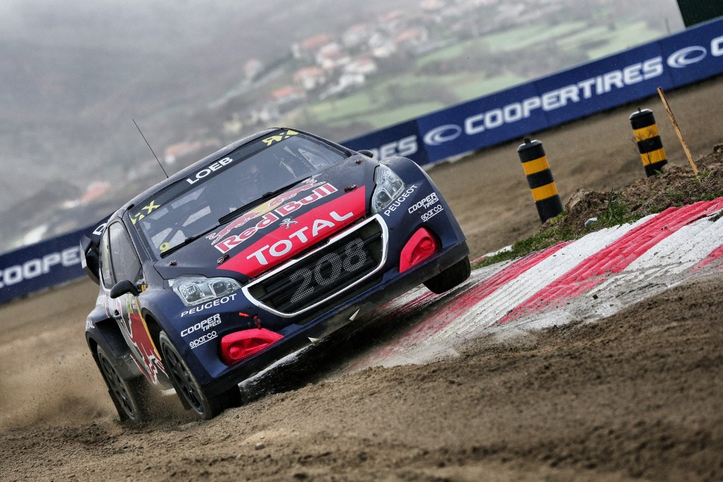 Sebastien Loeb in action at FIA World Rallycross Championship in Montalegre, Portugal on 29 April 2018 // @World / Red Bull Content Pool // AP-1VGWVH3ZD2111 // Usage for editorial use only // Please go to www.redbullcontentpool.com for further information. //