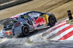 Timmy Hansen in action at FIA World Rallycross Championship in Montalegre, Portugal on 28 April 2018 // @World / Red Bull Content Pool // AP-1VGK3SBTW2111 // Usage for editorial use only // Please go to www.redbullcontentpool.com for further information. //