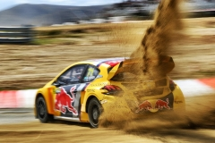 Kevin Hansen in action at FIA World Rallycross Championship in Montalegre, Portugal on 28 April 2018 // @World / Red Bull Content Pool // AP-1VGK3N3792111 // Usage for editorial use only // Please go to www.redbullcontentpool.com for further information. //