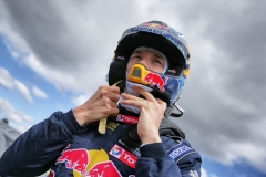 Timmy Hansen performs at FIA World Rallycross Championship in Montalegre, Portugal on 28 April 2018 // @World / Red Bull Content Pool // AP-1VGK3UT492111 // Usage for editorial use only // Please go to www.redbullcontentpool.com for further information. //