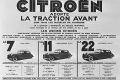 Le varianti della Traction al momento del lancio nel 1934