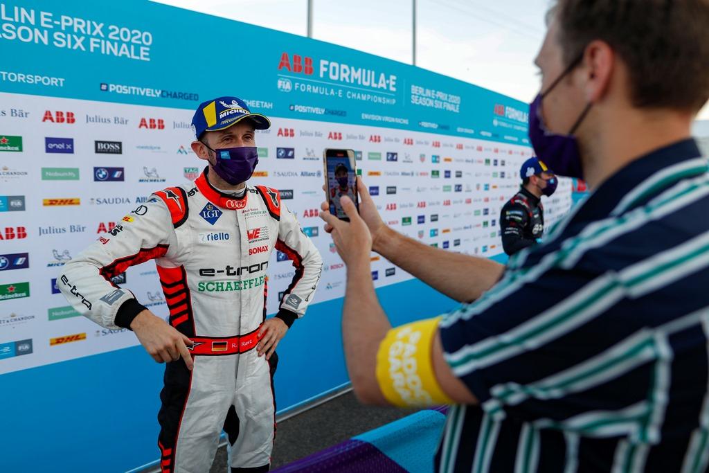 René Rast (DEU), Audi Sport ABT Schaeffler talks to the press