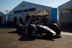 Oliver Rowland (GBR), Nissan e.Dams, Nissan IMO2 leaves the garage