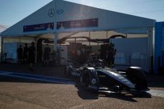Nyck de Vries (NLD), Mercedes Benz EQ, EQ Silver Arrow 01 leaves the garage