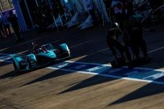 Mitch Evans (NZL), Panasonic Jaguar Racing, Jaguar I-Type 4 comes into the pits