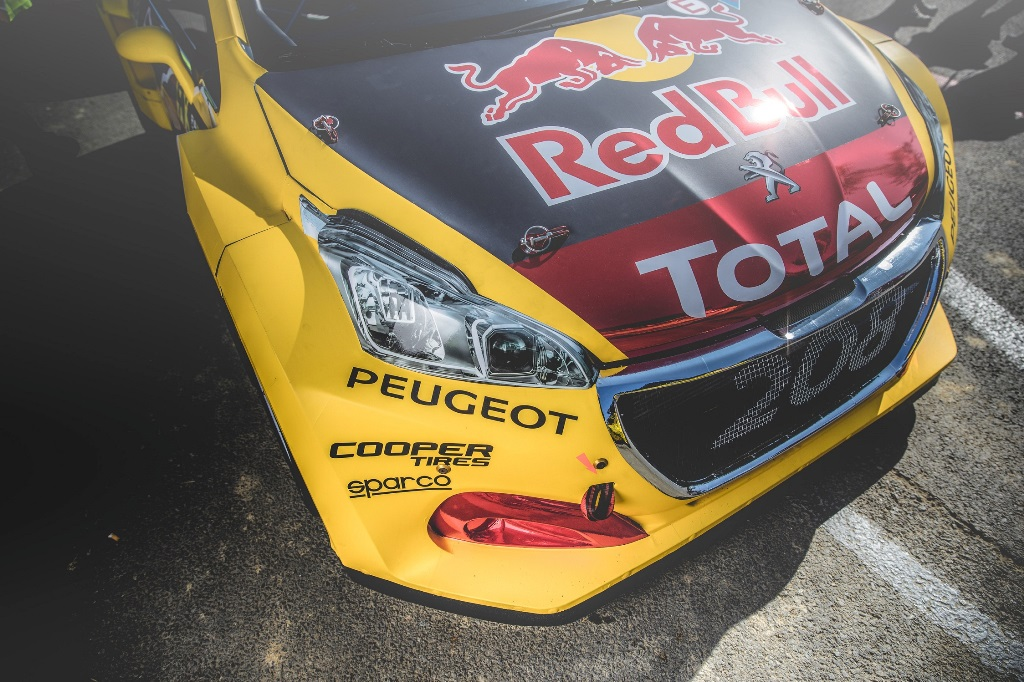 The Peugeot 208 WRX is seen at the FIA World RallyCross Championship in Loheac, France on August 31, 2018 // Flavien Duhamel/Red Bull Content Pool // AP-1WRU9HYRN2111 // Usage for editorial use only // Please go to www.redbullcontentpool.com for further information. //