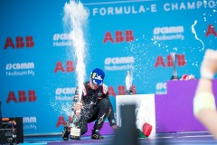 Antonio Felix da Costa (PRT), DS Techeetah, 2nd position, celebrates on the podium