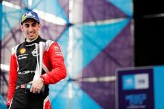 Sébastien Buemi (CHE), Nissan e.Dams, celebrates on the podium