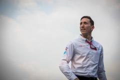 James Barclay, Team Director, Panasonic Jaguar Racing on the podium