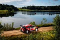 Esapekka Lappi (FIN) Janne Ferm (FIN) of team Citroen Total is seen racing during the Shell Helix Rally Estonia in Oteppa, Estonia on July 13, 2019 // Jaanus Ree/Red Bull Content Pool // AP-1ZXHZRJWW1W11 // Usage for editorial use only // Please go to www.redbullcontentpool.com for further information. //