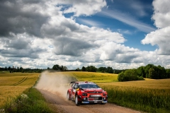 Esapekka Lappi (FIN) Janne Ferm (FIN) of team Citroen Total is seen racing on day 1 during the Shell Helix Rally Estonia in Oteppa, Estonia on July 12, 2019 // Jaanus Ree/Red Bull Content Pool // AP-1ZX5U9Y3S1W12 // Usage for editorial use only // Please go to www.redbullcontentpool.com for further information. //