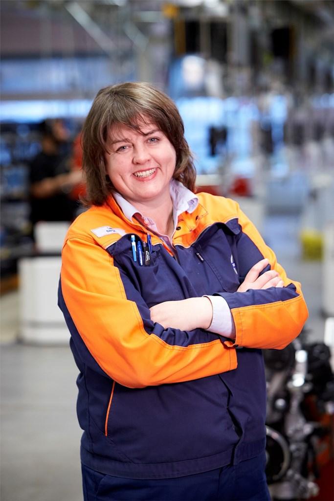 Lena Bergqvist, Plant Manager for Volvo Cars' engine factory in Skövde, Sweden