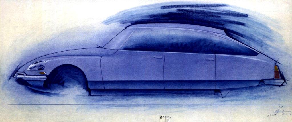 Disegno di Michel Harmand del 1967, fiancata con restyling frontale e posteriore