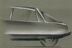Disegno di Michel Harmand del 1965 restyling posteriore