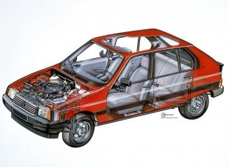 VISA GT, vista in sezione