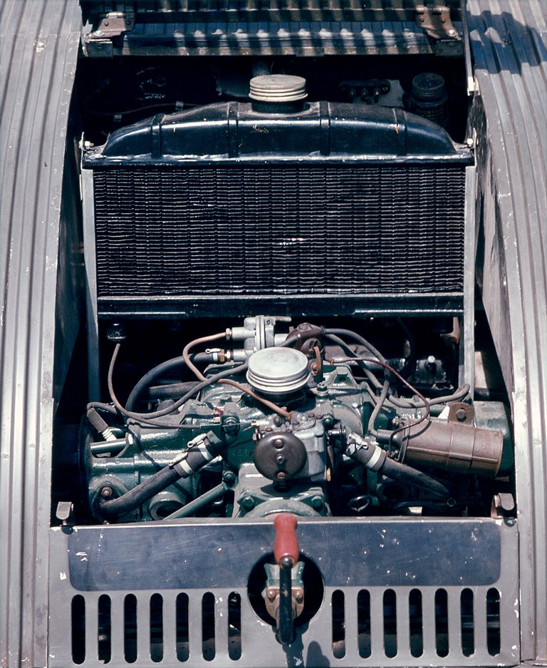 Il motore raffreddato ad acqua sul prototipo TPV