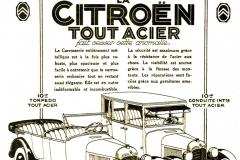Pubblicita B10 tout acier 1925