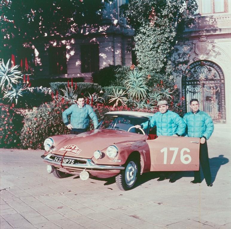 equipaggio Paul Coltelloni ID 19 vittorioso al Montecarlo 1959