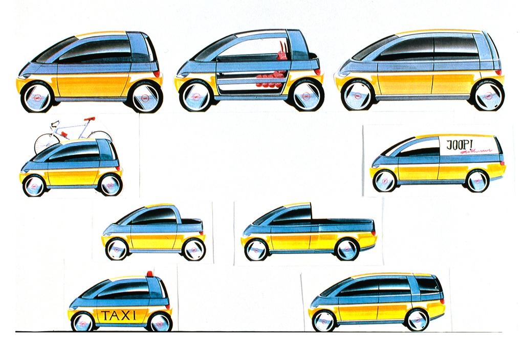 Opel MAXX, Designskizzen (1995)