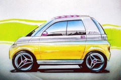 Designskizze zum Opel MAXX (um 1994)