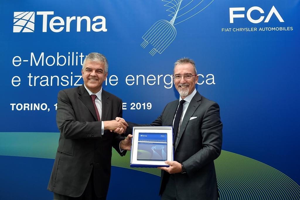 FCA, firma del Memorandum of Understanding con Terna