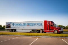 With a gross combined weight capacity of 80,000 lbs. and a driving range of more than 300 miles per fill, Toyota's 670-plus horsepower fuel cell electric truck produces 1325 pound-feet of torque from two Mirai fuel cell stacks and a 12kWh battery.