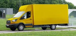 Furgone per la consegna di posta elettronica basato sul telaio di transito Ford da deutsche post streetscooter con Ford