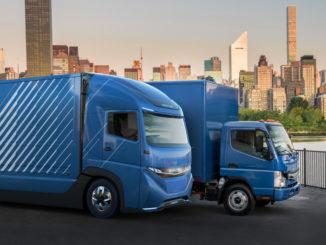 """camion elettrico """"e-fuso vision one concept"""""""