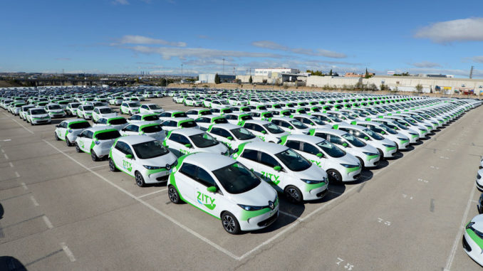 500 Renault ZOE a Madrid con ZITY
