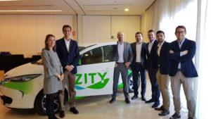 ZITY car sharing Renault Ferrovial