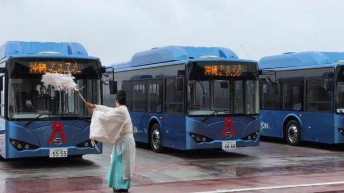 BYD bus Okinawa