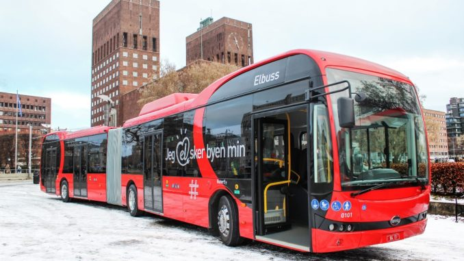 BYD e-bus Norway