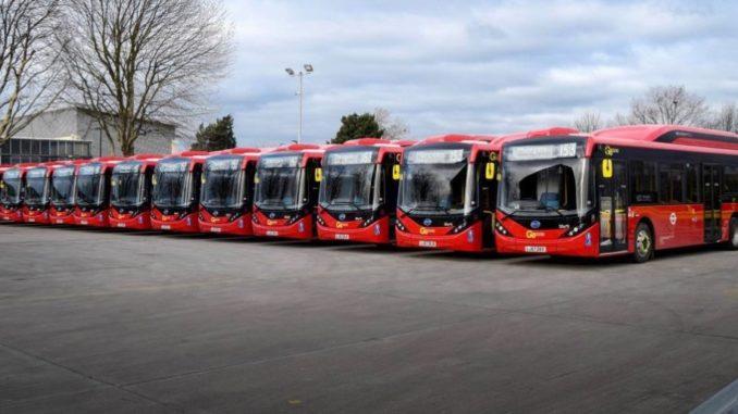 byd bus elettrici Londra