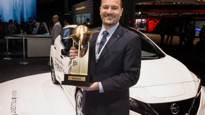 Nuova Nissan Leaf '2018 World Green Car of the Year'