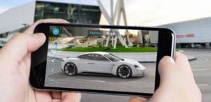 Porsche Mission E realtà aumentata