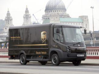 UPS camion elettrici Londra